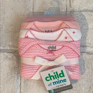 NWT 3 Baby Girl Short Sleeve Onesie Bodysuits